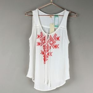 Skies Are Blue | Stitch Fix Embroidered Tank Small